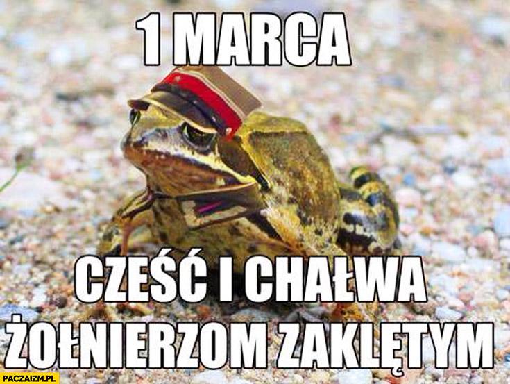 1 marca cześć i chałwa żołnierzom zaklętym żaba