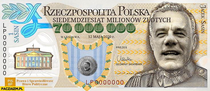1 Sasin banknot 70 milionów złotych przeróbka