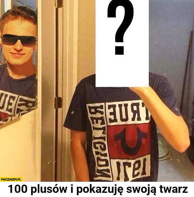 100 plusów i pokazuję swoją twarz Michał Białek
