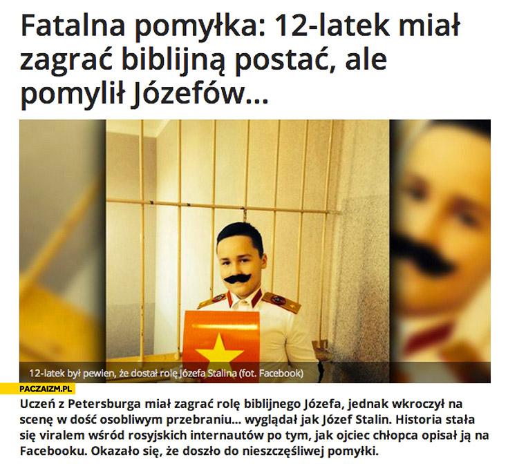 12-latek przebrał się za Stalina zamiast Józefa