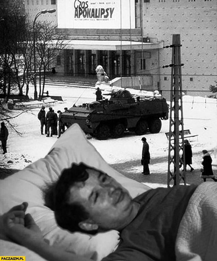 13 grudnia stan wojenny Kaczyński śpi w łóżku