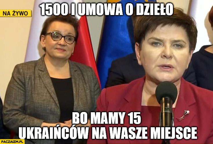 1500 i umowa o dzieło bo mamy 15 Ukraińców na wasze miejsce PiS strajk nauczycieli