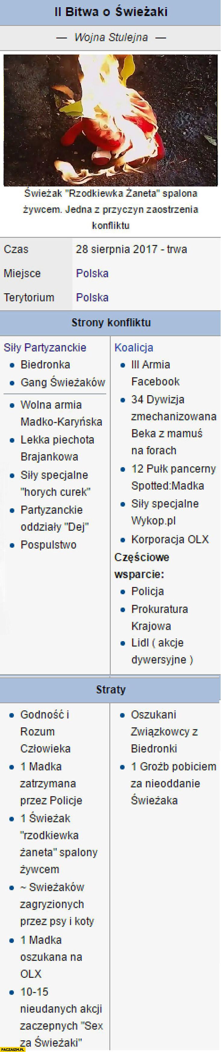 2 bitwa o świeżaki wojna stulejna wpis Wikipedia