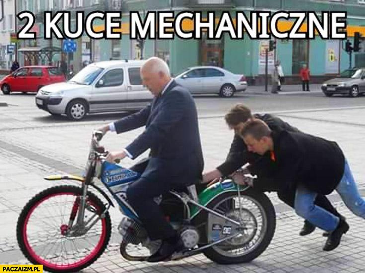 2 kuce mechaniczne Korwin na motorze