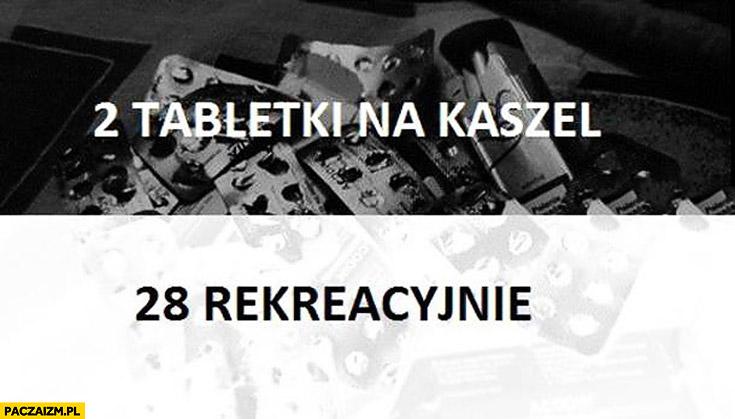 2 tabletki na kaszel 28 rekreacyjnie