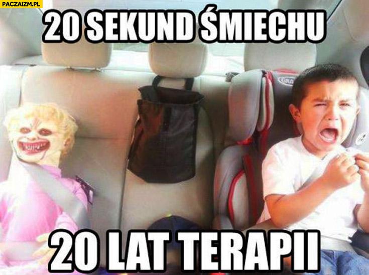 20 sekund śmiechu 20 lat terapii przestraszone dziecko