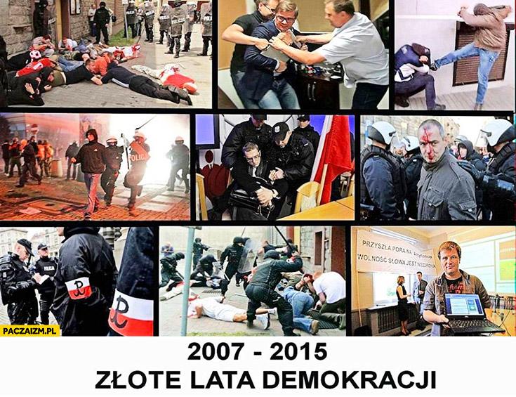 2007-2015 złote lata demokracji w Polsce fail