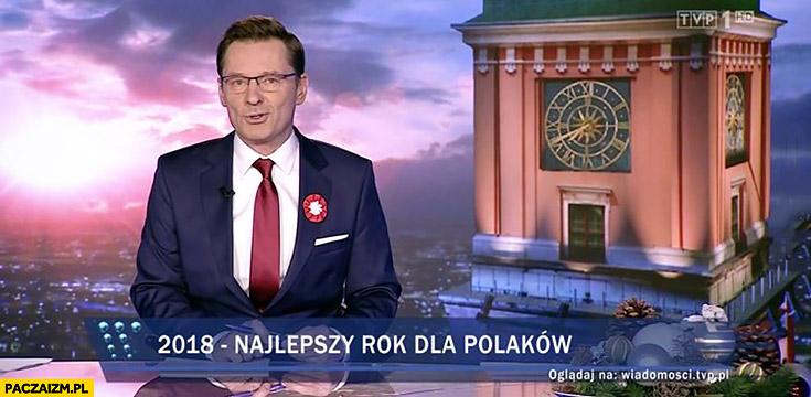 2018 to najlepszy rok dla Polaków pasek Wiadomości TVP