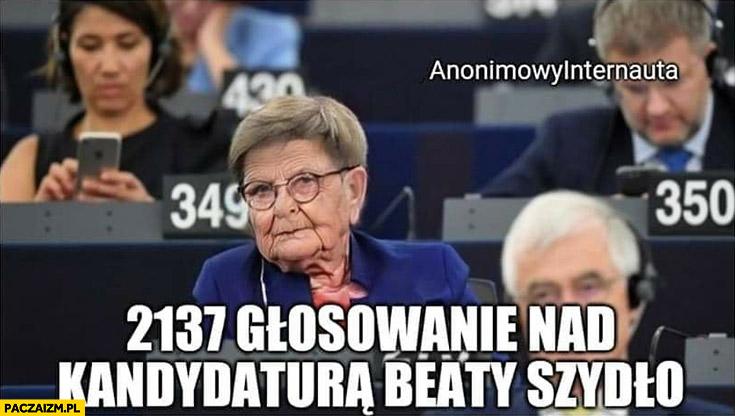 2137 głosowanie nad kandydaturą Beaty Szydło anonimowy internauta