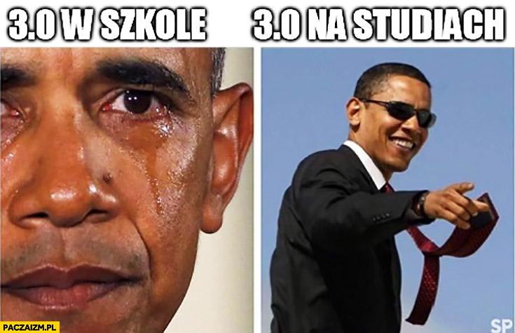 3 w szkole vs 3 na studiach porównanie Obama