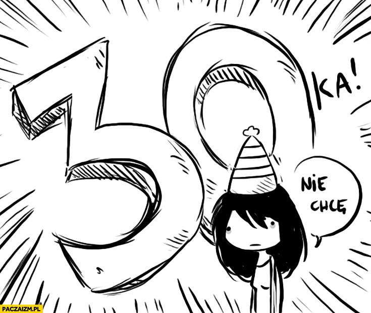 30tka trzydzieste urodziny nie chce