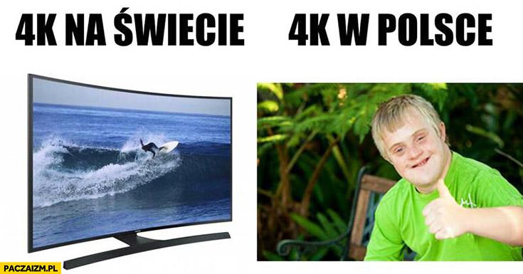 4k na świecie telewizor, 4k w Polsce PiS daje na niepełnosprawne dzieci