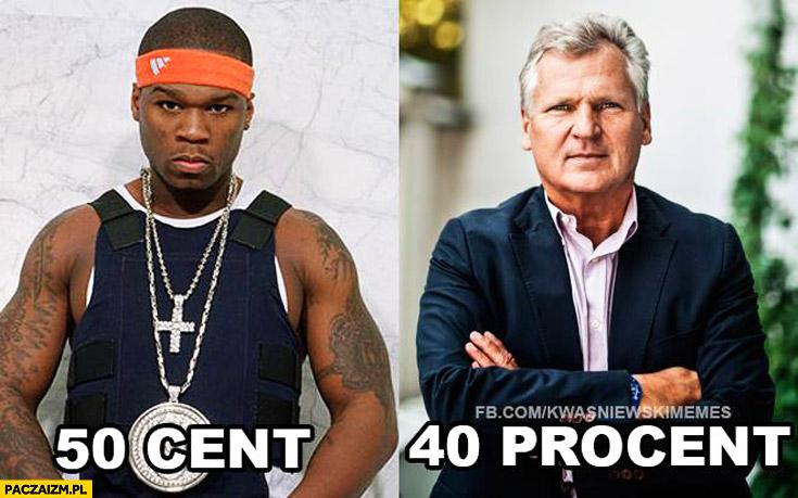 50 Cent 40 procent Kwaśniewski