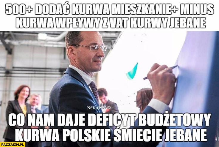 500+ plus dodać kurna mieszkanie+ plus minus kurna wpływy z VAT kurny jechane co nam daje deficyt budżetowy kurna polskie śmiecie Morawiecki Testoviron