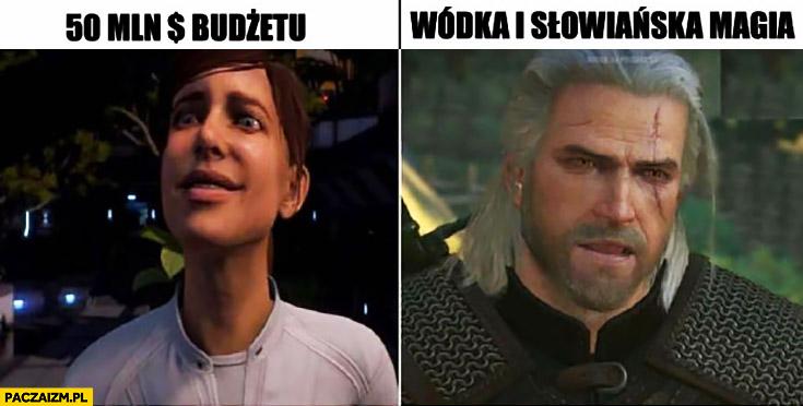 50mln budżetu vs wódka i słowiańska magia Mass Effect Andromeda vs Wiedźmin