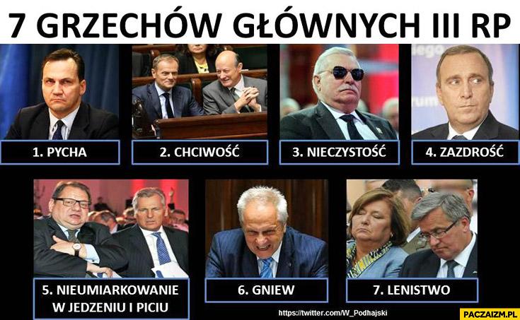 7 grzechów głównych trzeciej RP politycy