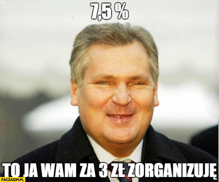 75% procent to ja wam za 3 zł zorganizuję Kwaśniewski referendum
