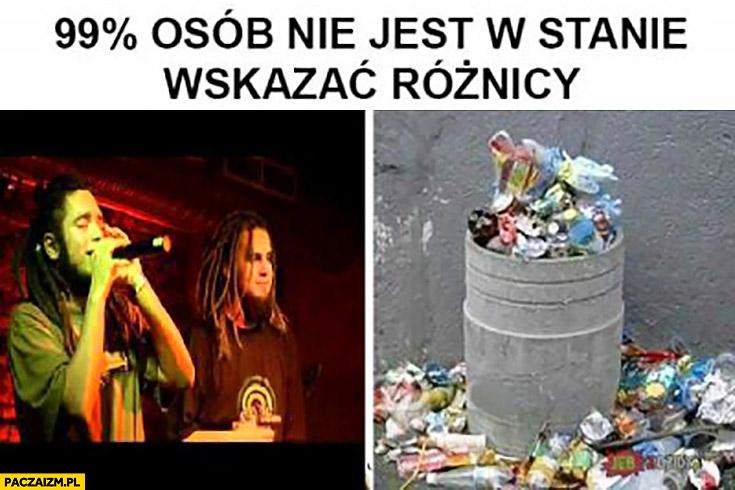 99% procent osób nie jest w stanie wskazać różnicy polskie Reggae śmieci śmietnik