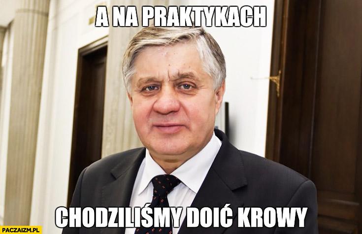 A na praktykach chodziliśmy doić krowy minister rolnictwa Krzysztof Jurgiel