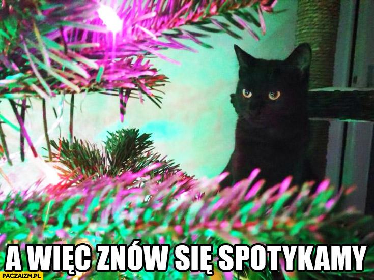 A wiec znów się spotykamy kot lampki choinkowe