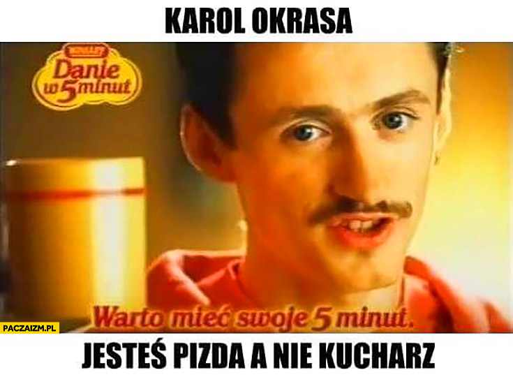 Adam Małysz Karol Okrasa jesteś picza a nie kucharz reklama Winiary