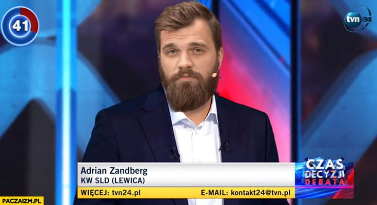 Adrian Zandberg na debacie TVN Mietczyński YouTube