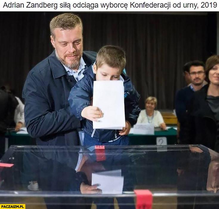 Adrian Zandberg siła odciąga wyborcę Konferedaracji od urny 2019