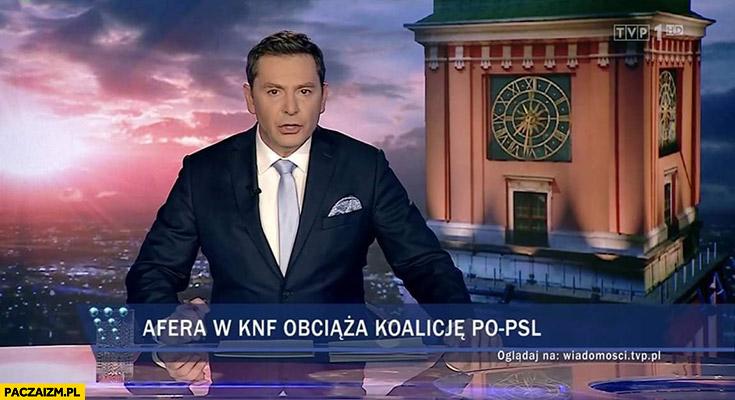 Afera w KNF obciąża koalicję PO-PSL pasek Wiadomości TVP