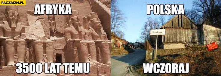 Afryka 3500 lat temu Polska wczoraj