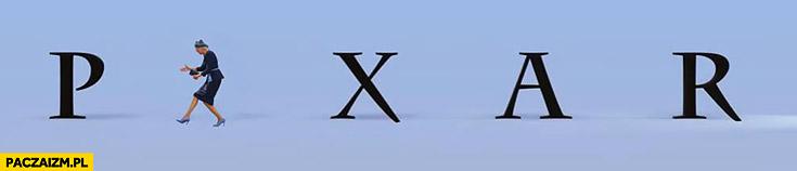 Agata Duda na ŚDM wita się z księżmi logo Pixar