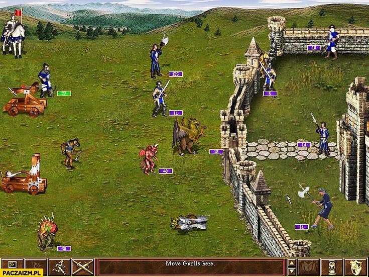 Agata Duda w Heroes of Might and Magic 3 przeróbka photoshop powitanie ŚDM