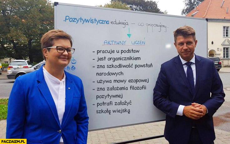 Aktywny uczeń Nowoczesna Petru: pracuje u podstaw jest, organicznikiem, zna szkodliwość powstań przeróbka
