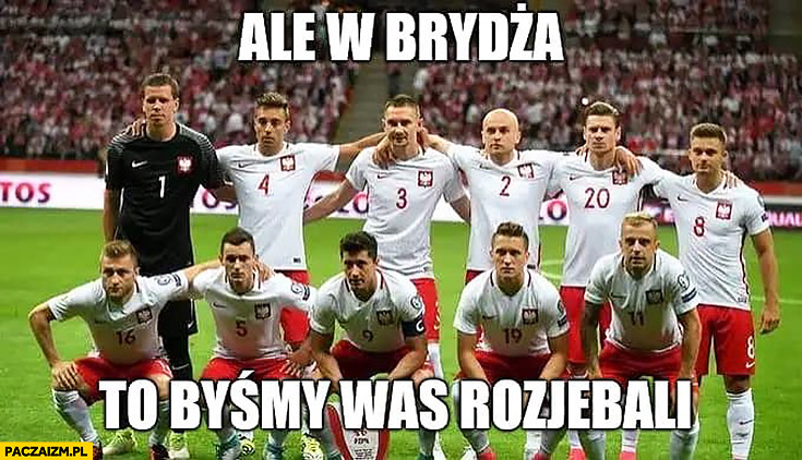 Ale w brydża to byśmy was rozjechali reprezentacja polski w piłce nożnej na mundialu