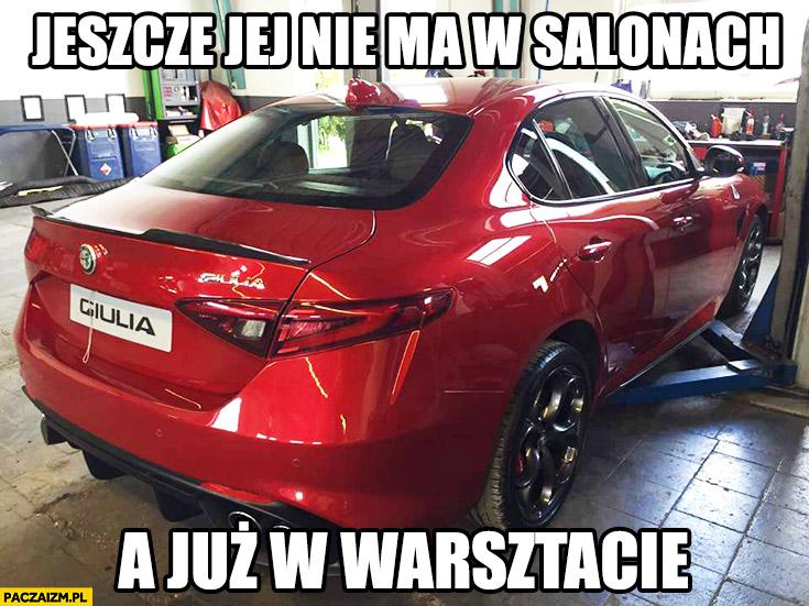 Alfa Romeo Giulia jeszcze jej nie ma w salonach a już w warsztacie