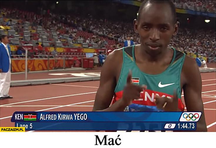 Alfred Kierwa Yego mać nazwisko kenijskiego biegacza Kenia