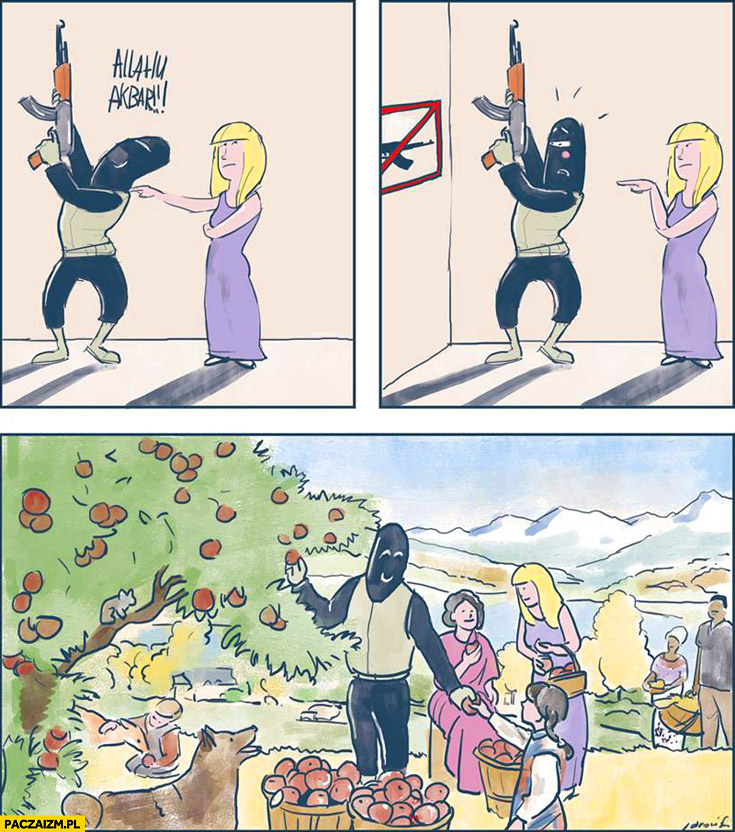 Allahu Akbar zabronione komiks