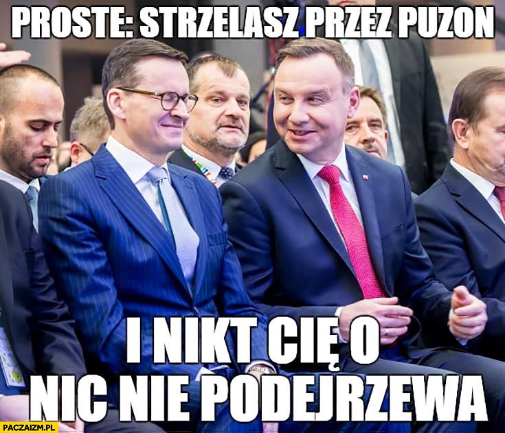 Andrzej Duda do Morawieckiego proste strzelasz przez puzon i nikt Cię o nic nie podejrzewa