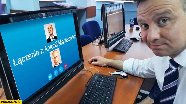 Andrzej Duda dzwoni do Macierewicza jako Putin trollowanie komisji smoleńskiej na skype