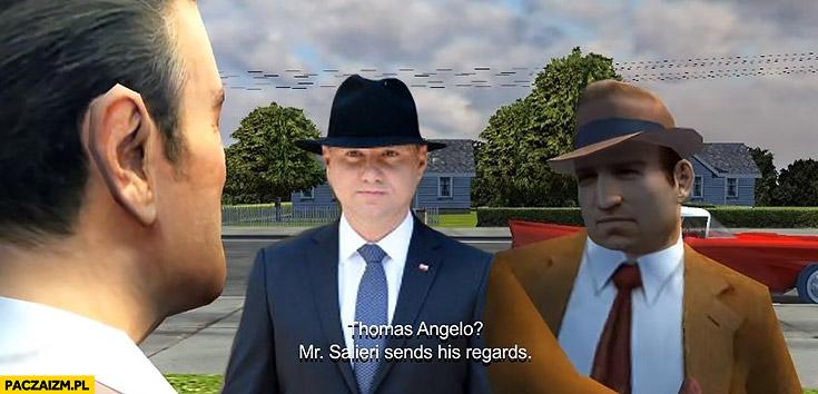 Andrzej Duda jako bohater gry Mafia GTA