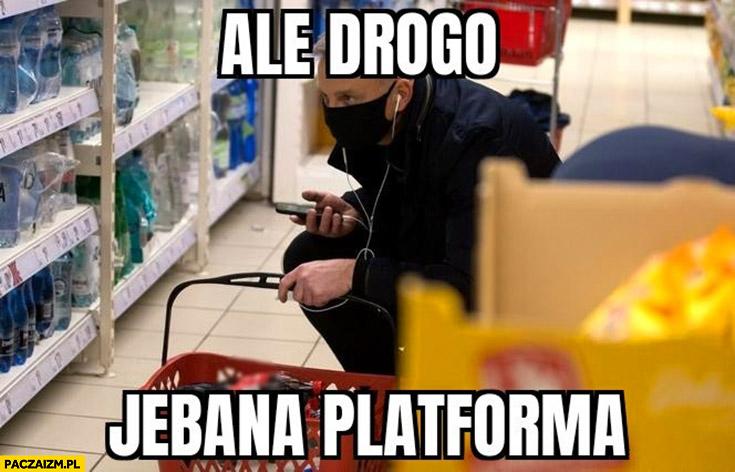 Andrzej Duda na zakupach ale drogo jechana Platforma