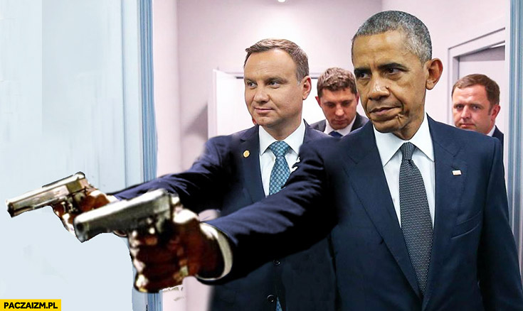 Andrzej Duda Obama scena z Pulp Fiction przeróbka