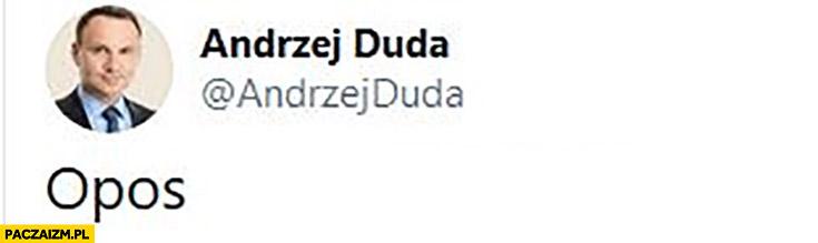 Andrzej Duda opos tweet twitter