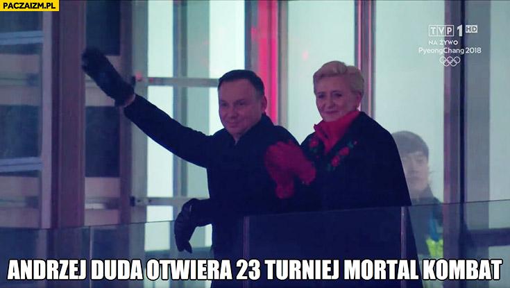 Andrzej Duda otwiera 23 turniej Mortal Kombat na olimpiadzie Agata Duda