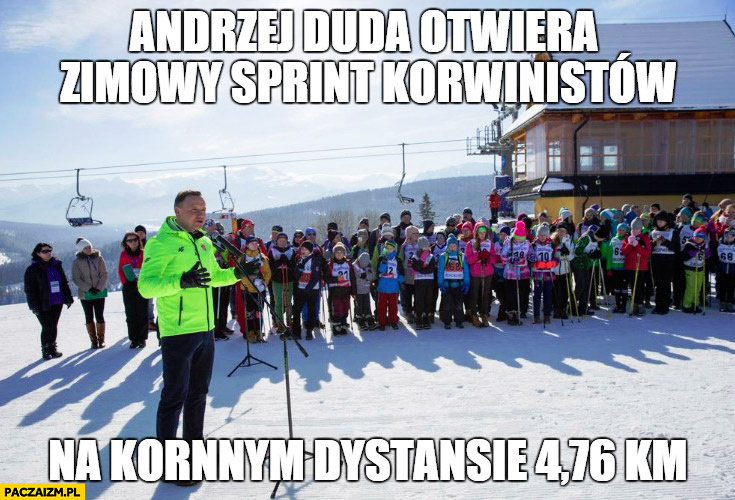 Andrzej Duda otwiera zimowy sprint korwinistów na koronnym dystansie 4,76 kilometra