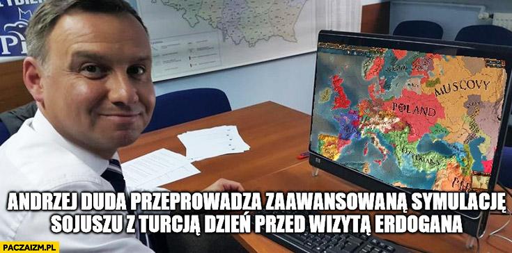 Andrzej Duda przeprowadza zaawansowaną symulację sojuszu z Turcją dzień przed wizytą Erdogana