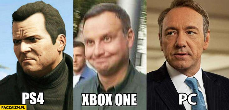 Andrzej Duda PS4 XBox One PC porównanie Kevin Spacey