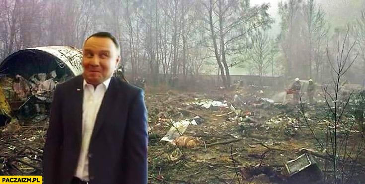 Andrzej Duda Smoleńsk Tupolew dziwna mina