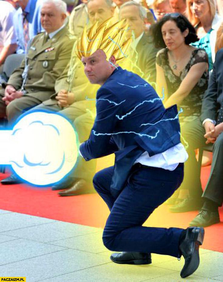 Andrzej Duda Son Goku Dragonball