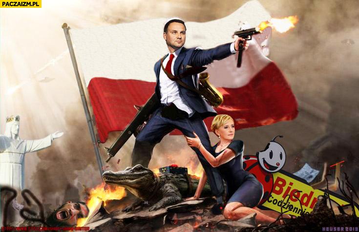 Andrzej Duda superbohater przeróbka montaż