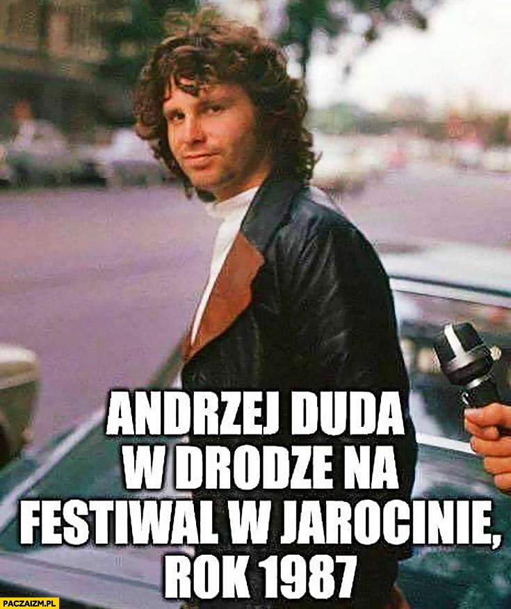 Andrzej Duda w drodze na festiwal w Jarocinie rok 1987
